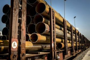 Solines opens its own, new railway yard for transporting pipes and steel