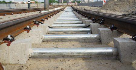 Verzinkte buizen voor tramlijn 23 in Rotterdam geleverd door Solines