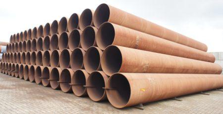 Spiraal gelast 1067,0 x 13,7 mm in staalkwaliteit L450