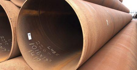 Stalen buizen spiraal gelast 700 ton